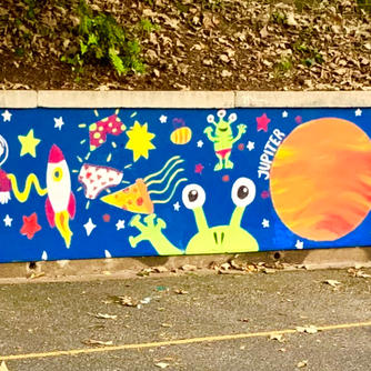 SPACE MURAL FOR CHILDRENS SCHOOL