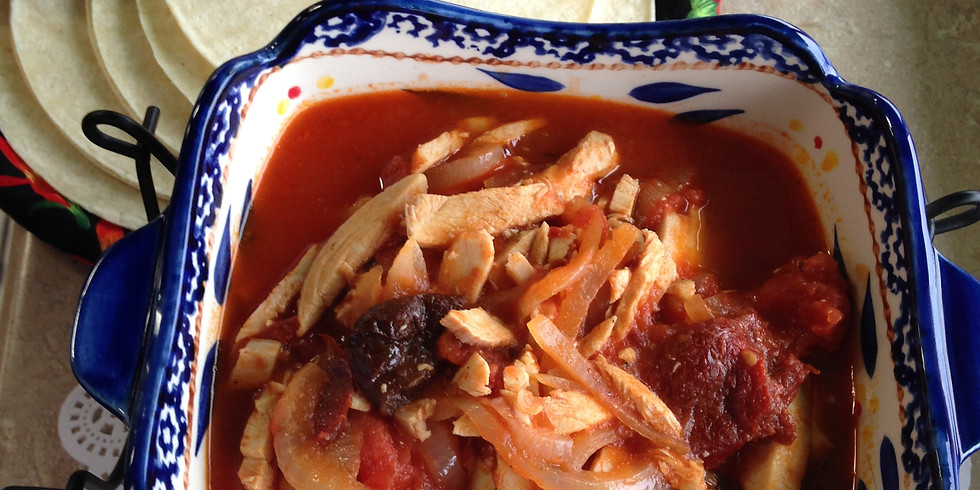 Roasted Poblano Pepper Soup Spicy Chicken Tinga