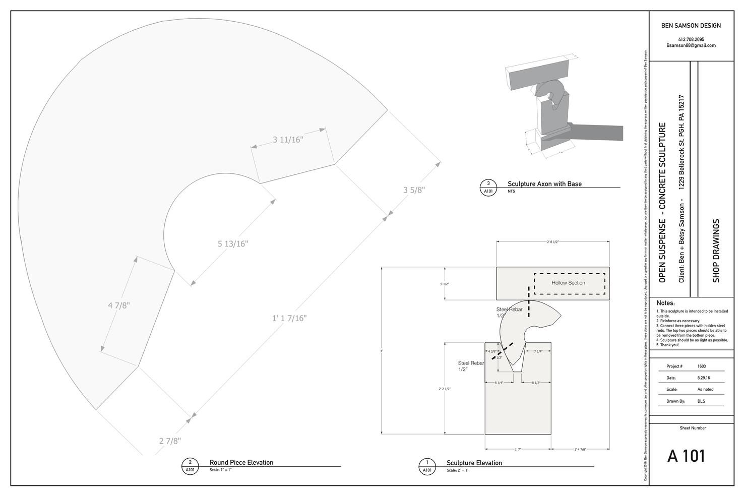 Open Suspense - Shop Drawing