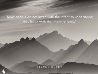The importance of empathetic listening....