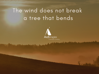 The wind does not break a tree that bends.