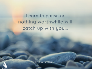 Learn to pause...
