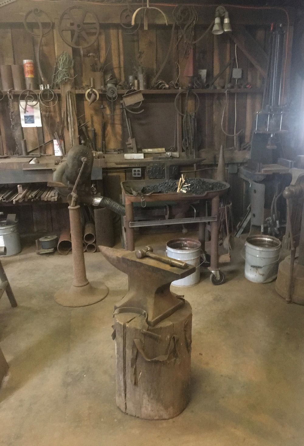 interior Don Bukar ironwork shop