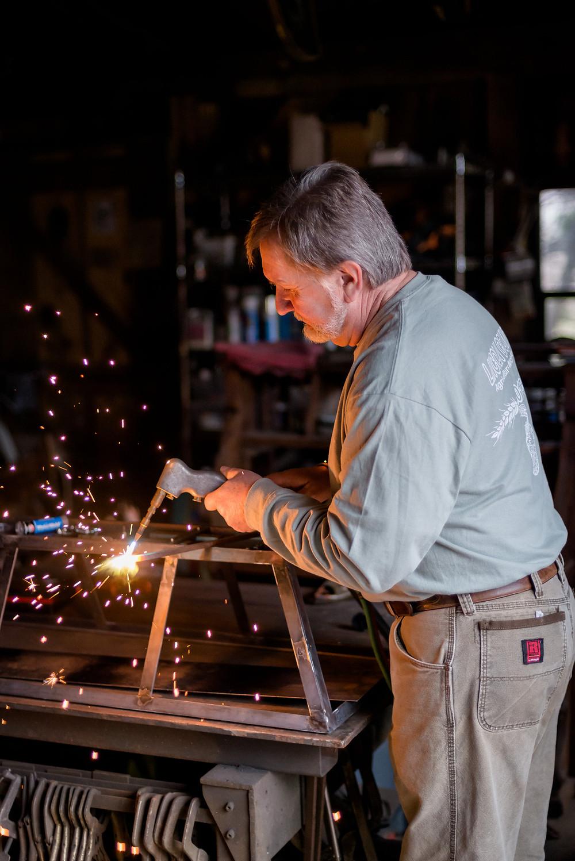 Don Bukar in his workshop