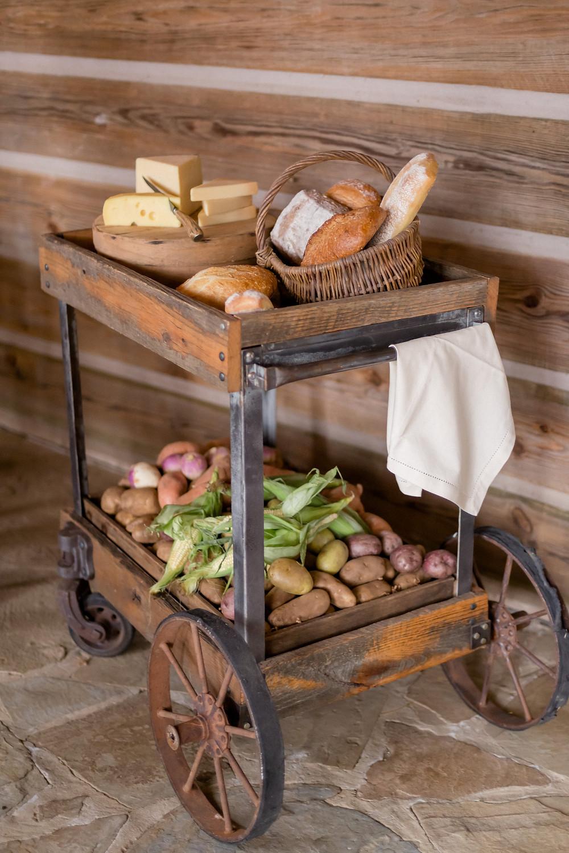 vintage wedding cart Willow Weddings