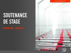 Soutenance de stage distribution