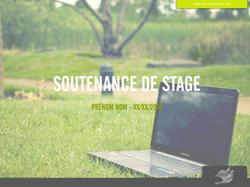 Soutenance de stage Environnement