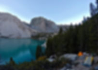 California Mountain Adventures - Temple Crag and Second lake in the Big Pine lakes basin