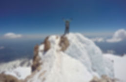 Standing on the summit of Mt. Shasta