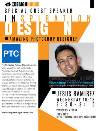 NEXT ZOOM GUEST SPEAKER:    Jesus Ramirez - AMAZING Photoshop Expert - Photoshop Training Channel