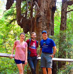 Tour guide/hike leader with guests