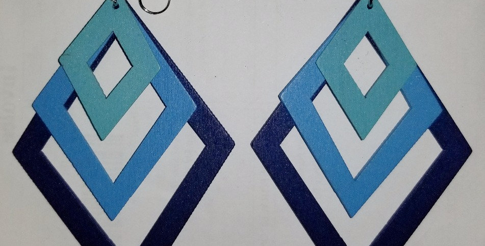 Trifecta Polygon Earrings