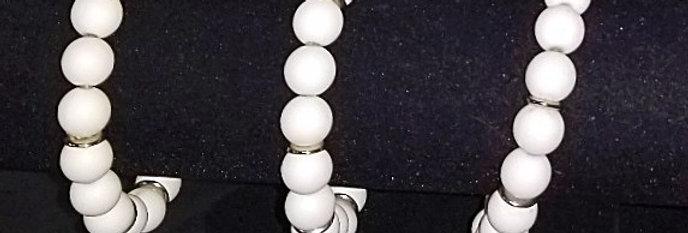 Large Glass Bead Bracelets