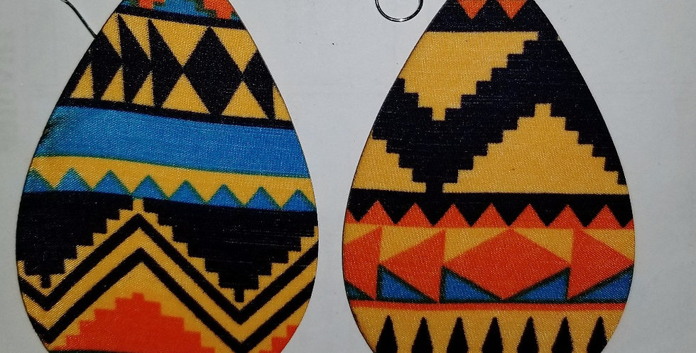 Fabric encased Wooden Teardop