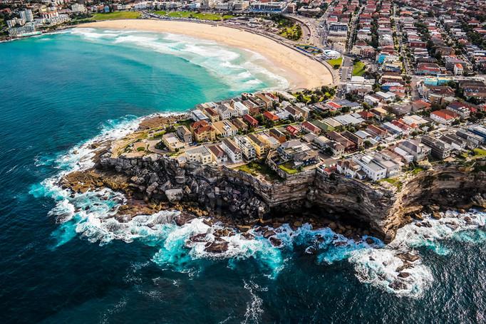 Aerial View of Sydney Australia by Yunaidi Joepoet