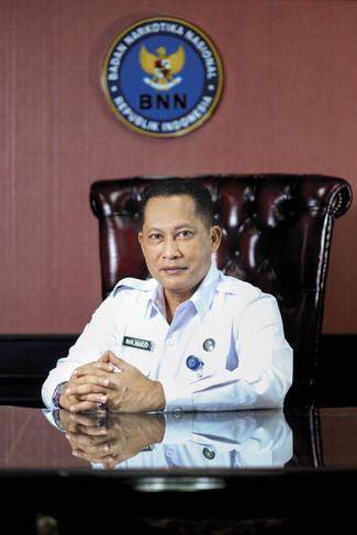 Comr. Gen. Budi Waseso - Chief National Narcotics Agency (BNN). Portrait Photography by Yunaidi Joepoet - Jakarta, Indonesia