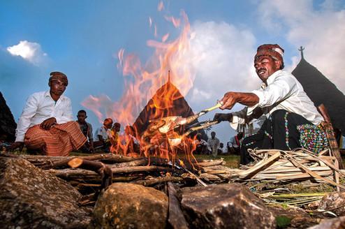 Penti Ritual at Waerebo Village, Flores, East Nusa Tenggara. Travel Photography by Yunaidi Joepoet