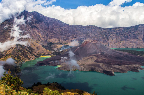 Mount Rinjani and Segara Anak Lake, Lombok, West Nusa Tenggara. Nature and Landscape Photography by Yunaidi Joepoet
