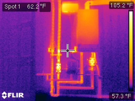 Infrared Camera of radiant floor boiler