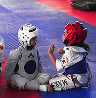 Photo of martial arts kids, linked to the Martial Art Injury page