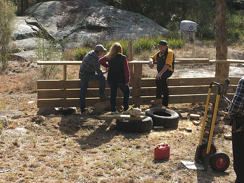 Uralla Bowmen working on our new picnic area