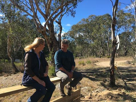 Uralla Bowmen members taking a break at a club working bee near Armidale, NSW