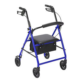 """Drive Medical Aluminum Rollator with 6"""" wheels"""