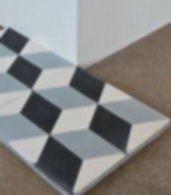 Zementfliesen-Geometrisch