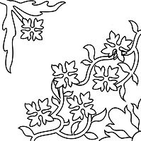 Zementflisen-Schablone-Floral