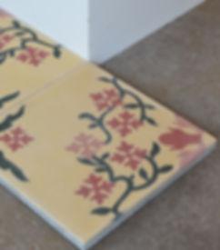 Zementfliesen-Floral