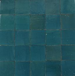 Zellig  blaugrün