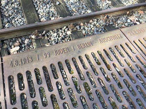 ベルリンのグルーネヴァルト駅のホロコースト記念碑