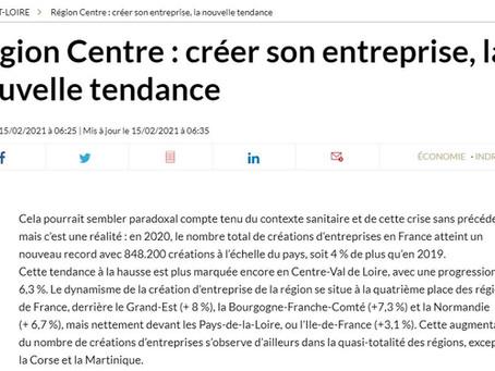 Région Centre : créer son entreprise, la nouvelle tendance Publié le 15/02/2021 à 06:25