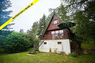 Prodej chaty v obci Velká Buková (Na hřebínku) s terasou a krbem, Křivoklátsko