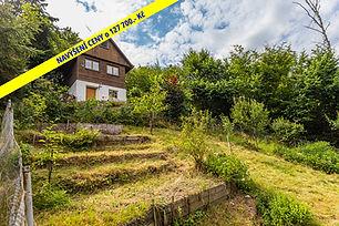 Prodej podsklepené chaty s výhledem na Berounku