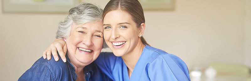 home healthcare provider with client