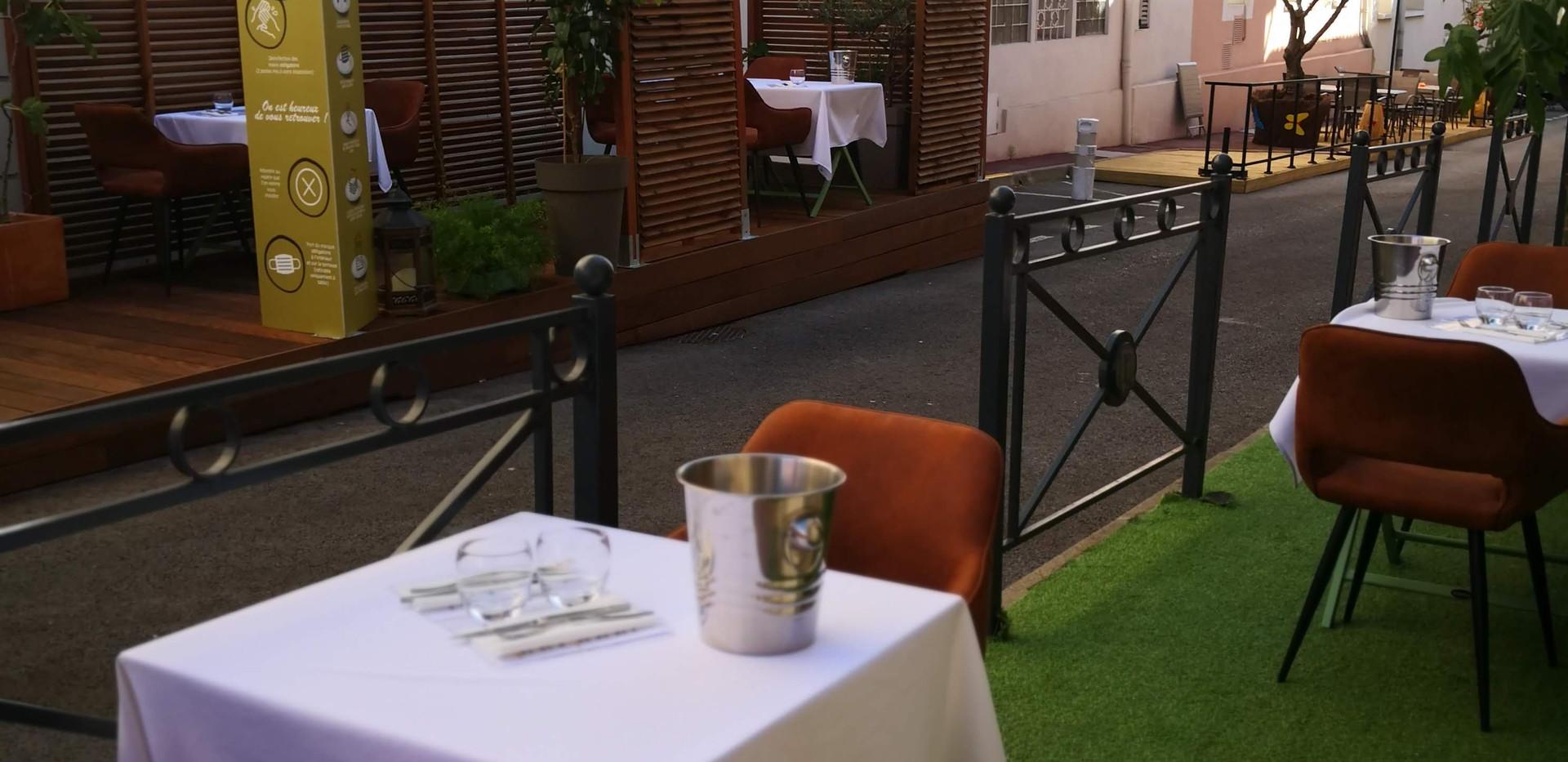La terrasse du restaurant Mariu's