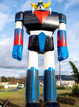 Statue de GOLDORAK à Thiers