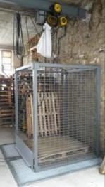 Cage d'ascenseur pour palette