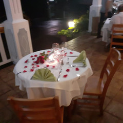 Private table at the Gingembre-Combava restaurant