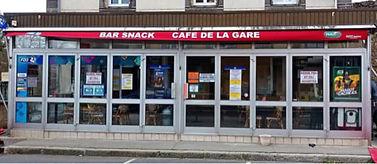 Devanture Café de la Gare - Membre Horizon Courpière