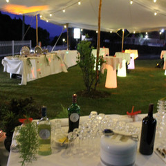 Event decoration at the Hotel La Fournaise