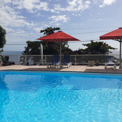 The swimming pool of the hotel La Fournaise