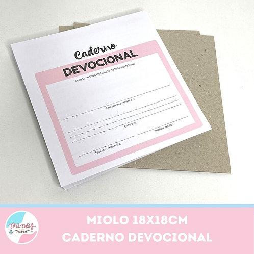 Miolo Devocional 18x18cm - (impresso)