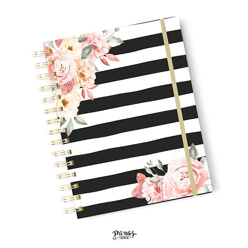 Planner Mimos A5 - Black floral