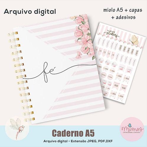 Coleção Flor - Caderno A5 - Arquivo Digital