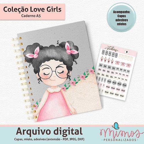 Coleção Love Girls - Caderno A5 - Arquivo Digital