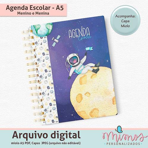 Agenda Escolar A5 Permanente - Arquivo Digital