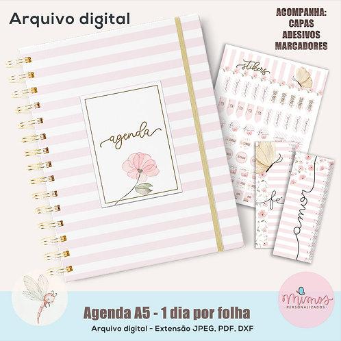 Coleção Flor - Agenda Permanente A5 - Arquivo Digital