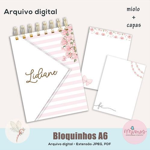 Coleção Flor - Bloquinho A6 - Arquivo Digital